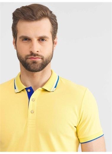 MCL MCL Polo Yaka Pamuklu Slim Fit Tişört Sarı